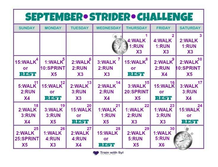 September Strider Challenge